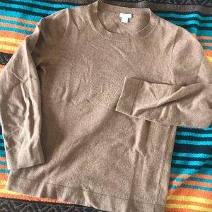 Carmel Brown J Crew Crewneck Sweater S
